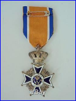 Netherlands Order Of Orange-nassau Officer Grade. Silver/gilt. Vf+