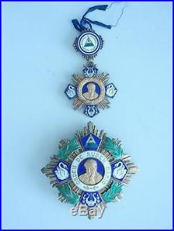 Nicaragua Grand Cross Set Order Of Rubin Dario. Rare. Ef