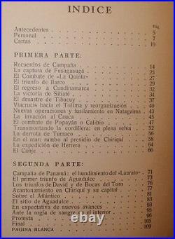 ORIGINAL BOOK Thousand Days War 18991902 Guerra Mil Días RECUERDOS DE CAMPAÑA