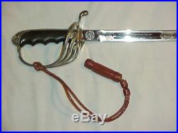 ORIGINAL & VG+ Condition M1902 Officer's Dress Saber & Scabbard with Provenance