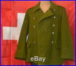 Old Swiss Army Jacket Motorcycle Military Flight Coat Switzerland Original 1932