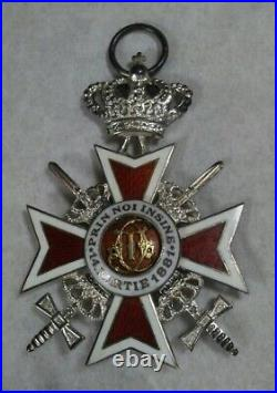 Order of the Crown, Romania, Knights Cross, Type II, Post 1932 Military w Crown