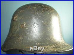 Orig. Austrian transitional M17 helmet casque stahlhelm casco elmo german