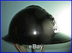 Orig Belgian gendarmerie Adrian M31 helmet casque stahlhelm casco elmo WW