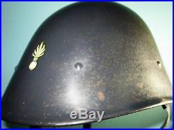 Orig Dutch Indonesian M38 KNIL helmet MILSCO-prod. Casque stahlhelm casco