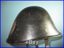 Orig Dutch Indonesian M38 KNIL helmet casque stahlhelm casco collaborate