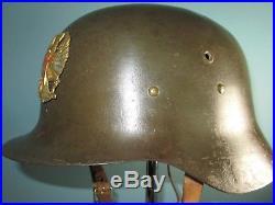 Orig Spanish modelo Z german M42 type helmet casco stahlhelm casque elmo