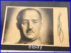 Original 1930 Spanish General Francisco Franco Framed Signed Document