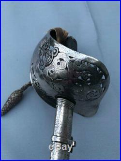 Original Crisp 1897P British Officers sword & Knot Ed VII by Army & Navy