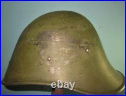 Original Dutch M34 helmet Stahlhelm casque casco elmo WW2