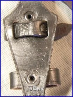 Original Early German Black Vertical Dagger Hanger with Assmann DRGM Clip