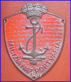 Original Fascist Arm Shield Milizia Volontaria Sicurezza Nazionale Portuaria DVX