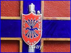 Original Fascist Enamelled Cross CIVIL Spanish War Frecce Azzurre Falange Duce