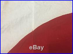 Original Imperial Japanese Navy 1st Fleet Admiral's Signed Large Garrison Flag