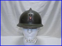 Original Italian PAI Fascist Era M16 Adrian Helmet Polizia dell'Africa Italiana