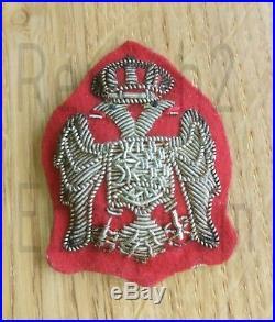 Original Kingdom Of Yugoslavia Chetnik Officer Cap Emblem Uniform Serbia Etniks