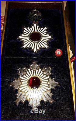 Original Medal Empire Japan Order the Rising Sun 1ST Class Grand Cordon TOP SET