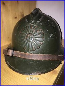 Original Peruvian M26 adrian helmet Peru WW2 casque stahlhelm casco elmo Elmetto