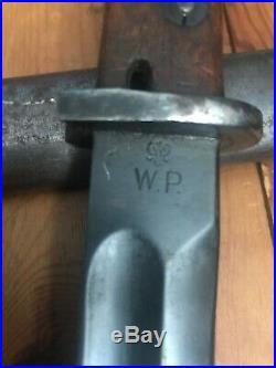 Original Pre-WWII Polish M1930 Mauser Bayonet By RADOM With German Scabbard
