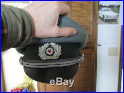 Original Stamped German Military Officer Hat Piping Uniform Metal Badge Pin WW2