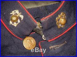 Original USMC Group 1927 China Marine 4th Reg Band Named to Pvt. Walter Weaber
