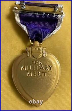 Original WW II Purple Heart in Box, Number, Name, Service