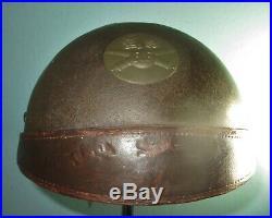 Original khaki French M36 Adrian DCA CD helmet casque stahlhelm casco m WW