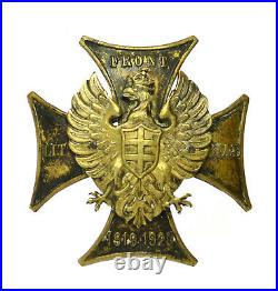 POLAND BADGE Lithuanian Belarussian Front, Polish-Soviet War, RARE TYPE (5848)