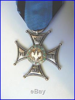 POLAND ORDER VIRTUTI MILITARI, 1930s, sterling, 5th cl, hallmarked, superb, very rare