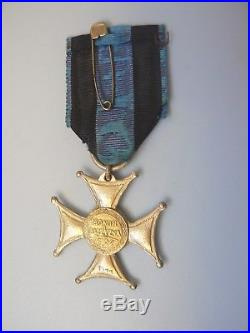 POLAND ORDER VIRTUTI MILITARI, Type II, #7577 awarded to Jozef Tyburek in 1922, LP