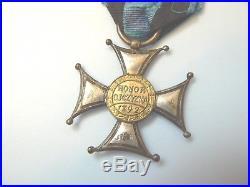 POLAND POLISH VIRTUTI MILITARI WWI, TYPE I, #3758, very rare to this regiment
