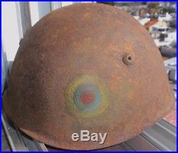 Pre Ww II Italian M 33 Ecuador Army & Peruvian 1941 War Helmet / Decal Rare
