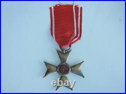Poland Order Of Polona Restituta Knight 1918. Silver. Marked Cased Rare! Ef