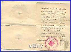 Polish Eastern Borderlands Defence Maltese Cross 2nd Class with Doc 1933
