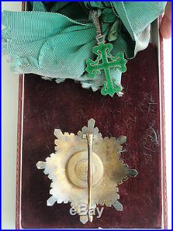 Portugal Order Of Avivz Grand Cross Set. Silver/gilt/hallmarked. Cased. Rare. Ef