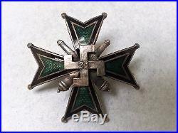 Pre WW II, Polish Military 21 Field (Mountain) Artillery Regiment badge rare