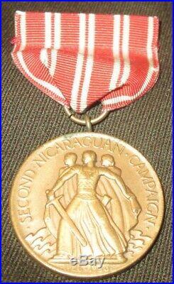 Pre WW2, US Navy, 2nd Nicaraguan Campaign Medal, 1926-1930, No. 8657, Original