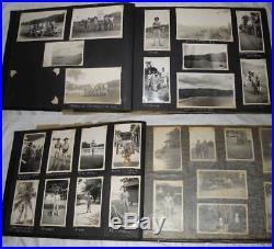 Pre WW2 USMC China Marine Philippines Photo & Scrap Album Shanghai Tientsin