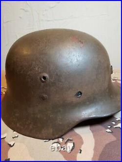 Pre WWII Spanish M35 Reworked German Helmet