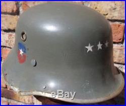 Pre Ww II Chilean Army Vulkanfiber M 35 German Parade Drgm Officer 1933 Helmet