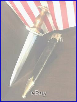 PreWWII German Officer Dagger SA Brown 1934