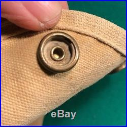 Rare Early Pre Ww2 Usmc Canvas Two Snap First Aid Pouch Depot Made Carr Snaps