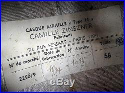 RARE FRENCH Pilot HELMET AVIATION PRE WW2 FLIGHT VTG Aviator ACE Old Plane UNUSE