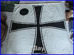 RARE Original Stamped 59 x 56 Vize Admiral German Flag w Rope WW1 WW2 Military
