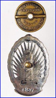 RARE Polish Border Guard Badge Poland Border Protection Corps Silver Original