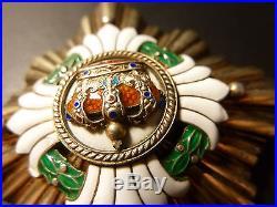 RARE! YUGOSLAVIAN CROWN Grand Cross Breast STAR Serbia KIngdom Swiss Huguenin