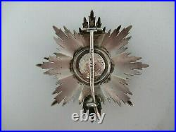 ROMANIA KINGDOM CROWN ORDER GRAND OFFICER BS WithO SWORDS With CROWN. MILITARY TYP 2