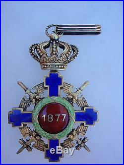 ROMANIA KINGDOM ORDER OF THE STAR COMMANDER With SORDS. TYPE 2. CASED. RARE