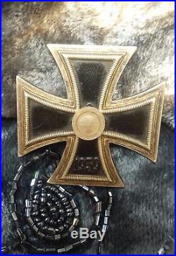 Rare Antique & Original WW2 German First Class Iron Cross Wilhelm Deumer