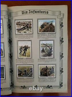 Rare German 1936 Pre-WW2 Cigarette Card Album Die Deutsche Wehrmacht Complete